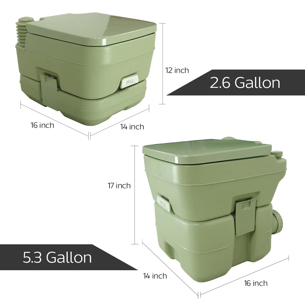 Camping Toilet 2 6 Gallon Travel Outdoor Camping Toilet