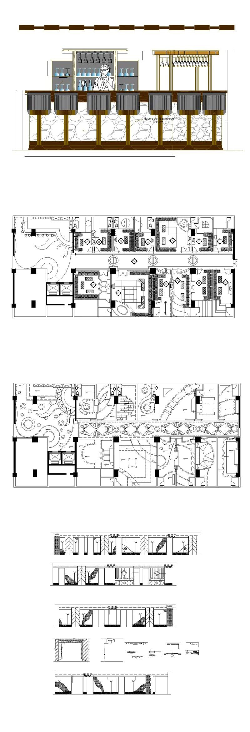 Autocad Blocks Pub Bar Restaurant Cad Design Drawings V 1 Pub Bar Restaurant Store Design Autocad Blocks Drawings Cad Details Elevation