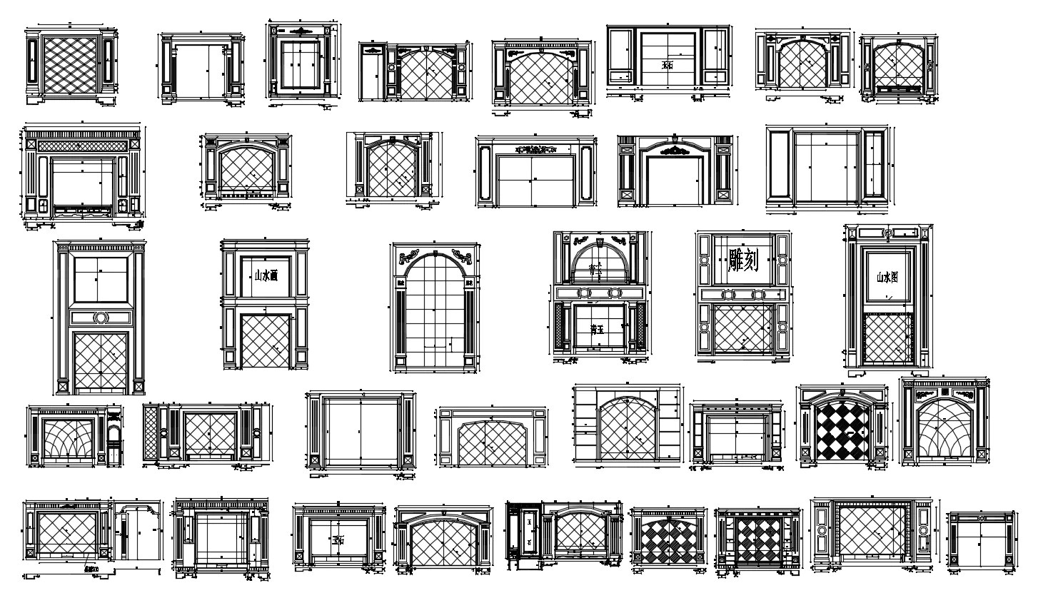 Modern Living Room Furniture Cad Blocks 188 Types Of Tv Wall Design Cad Drawings Living Room Bedroom Design