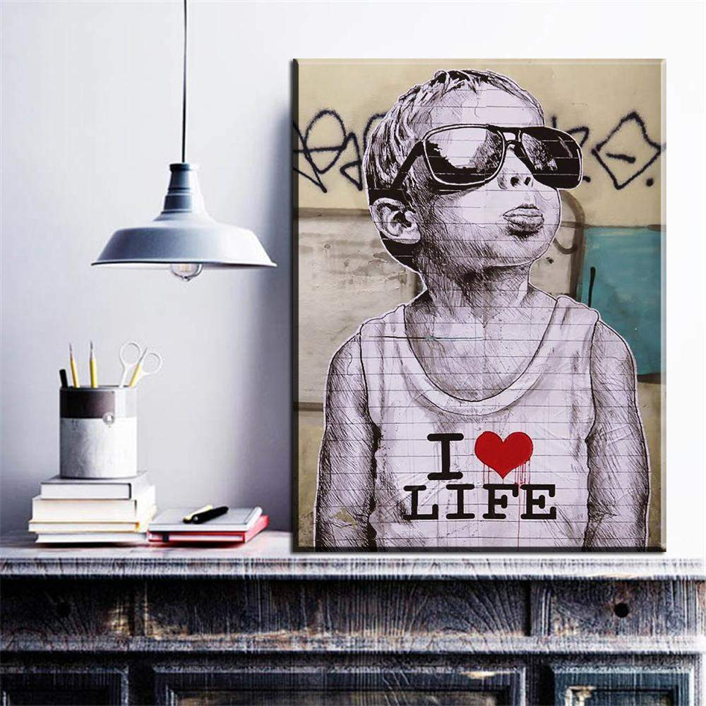 Banksy Canvas Art It S S O Y U Online Shopping