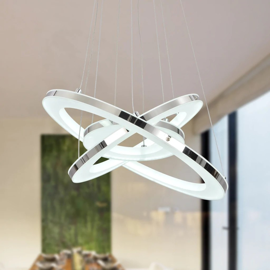 Diy Pendant Lights Australia Unitary Brand Modern Warm White Led Acrylic Pendant Light With 3 Rings Max 33w Chrome Finish