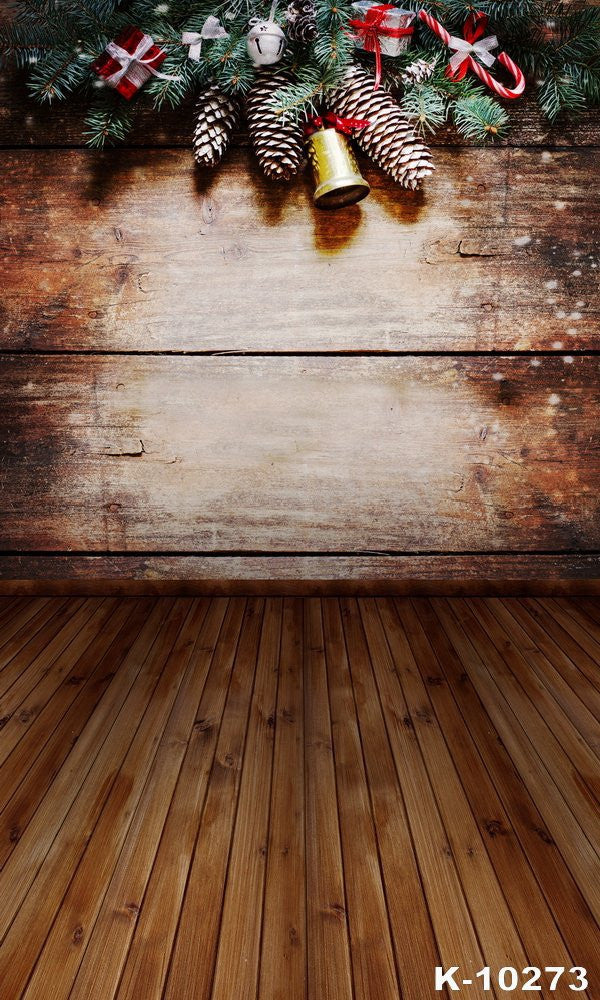 Fall Wooden Wallpaper Christmas Wooden Bells Photography Backdrops Photo