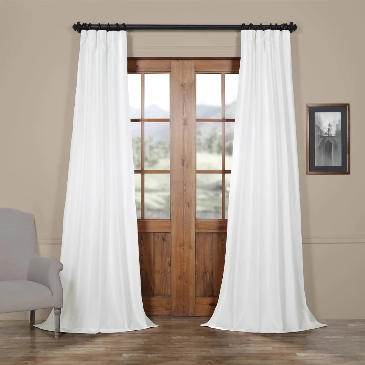 Faux Silk Curtains Faux Silk Taffeta Curtains Dupioni Silk Curtain Panels Lined 54