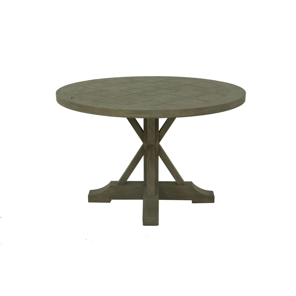 Round Oak Dining Table Durham 47