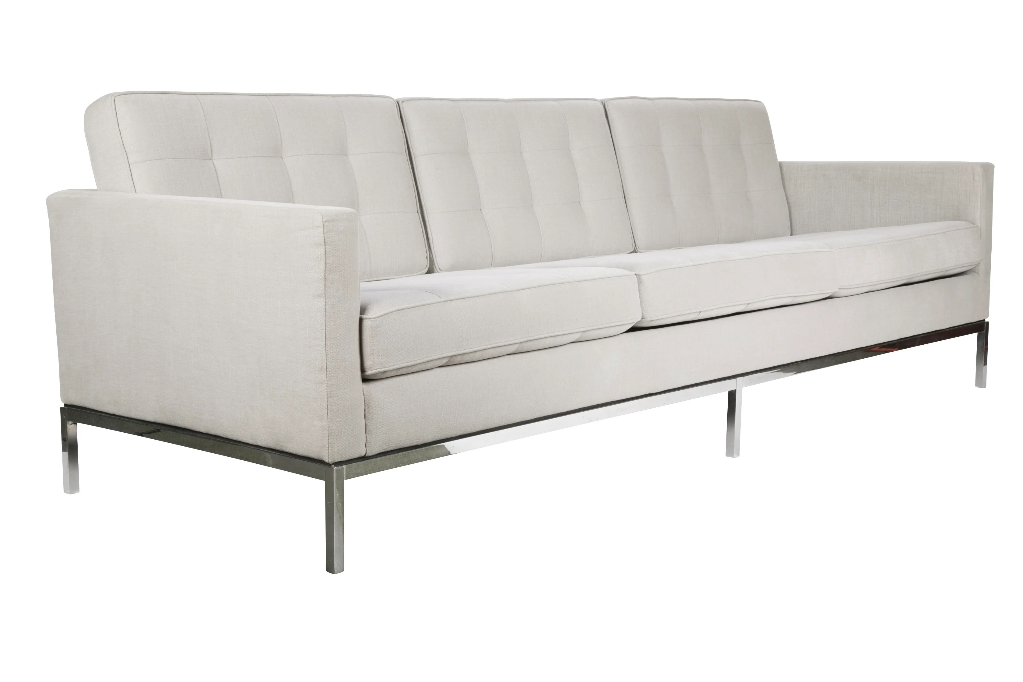 Florence Knoll Sessel Early Florence Knoll Sofa On Chrome Legs