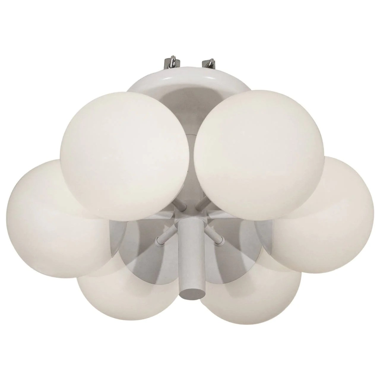 Leuchten Kaiser Six-globe Satin White Radial Chandelier By Kaiser Leuchten – Avery & Dash Collections