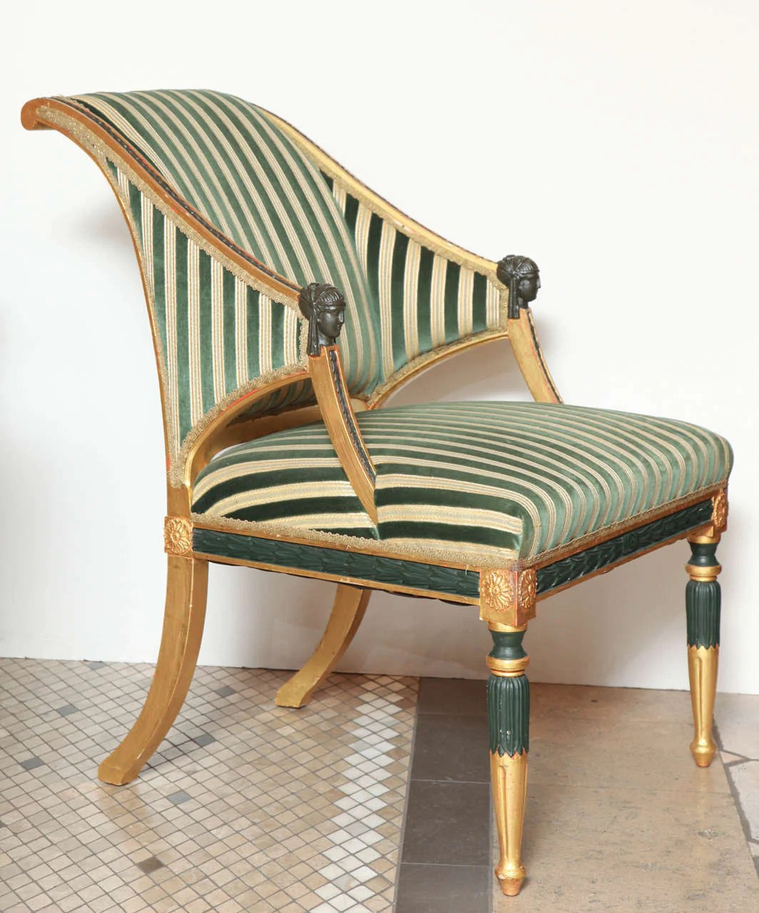 Vitrine Stahl A Pair Of Swedish Neoclassical Verdigris Gilt Armchairs In The Manner Of Ephraim Stahl
