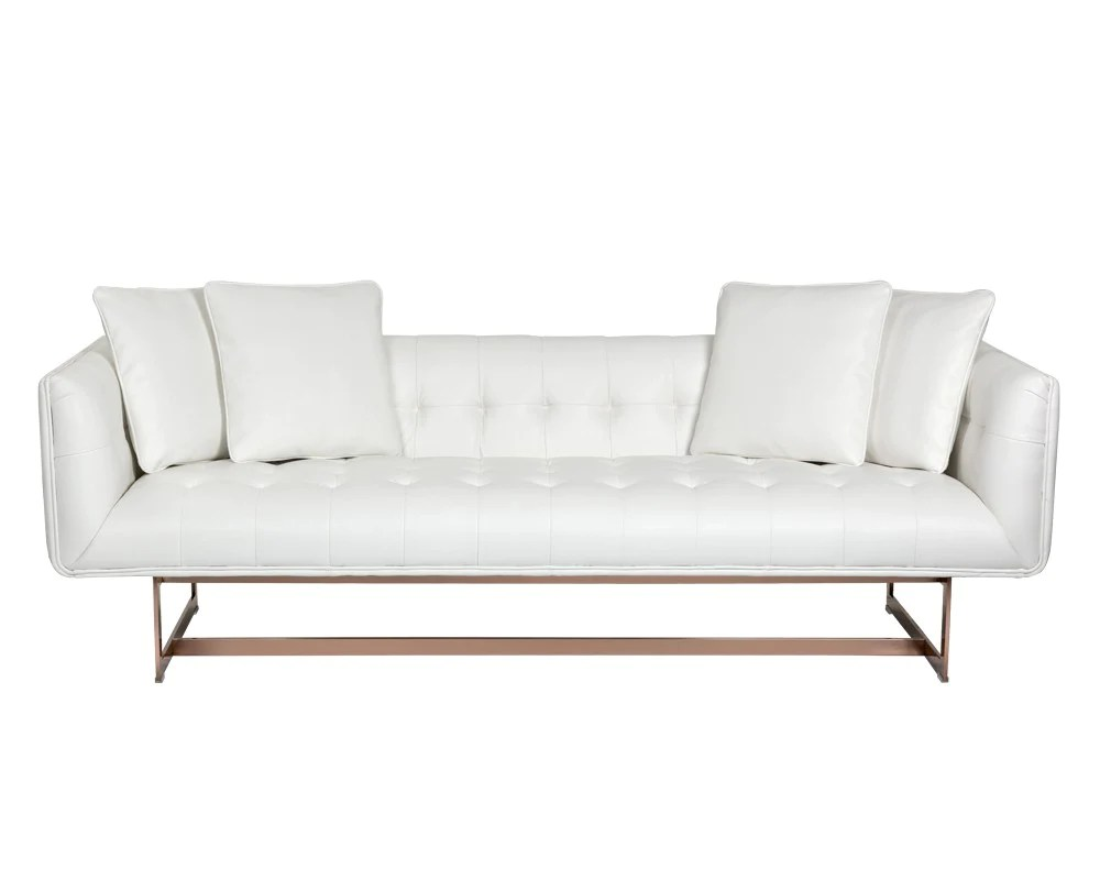 White Leather Couch Manta Nobility White Leather Sofa