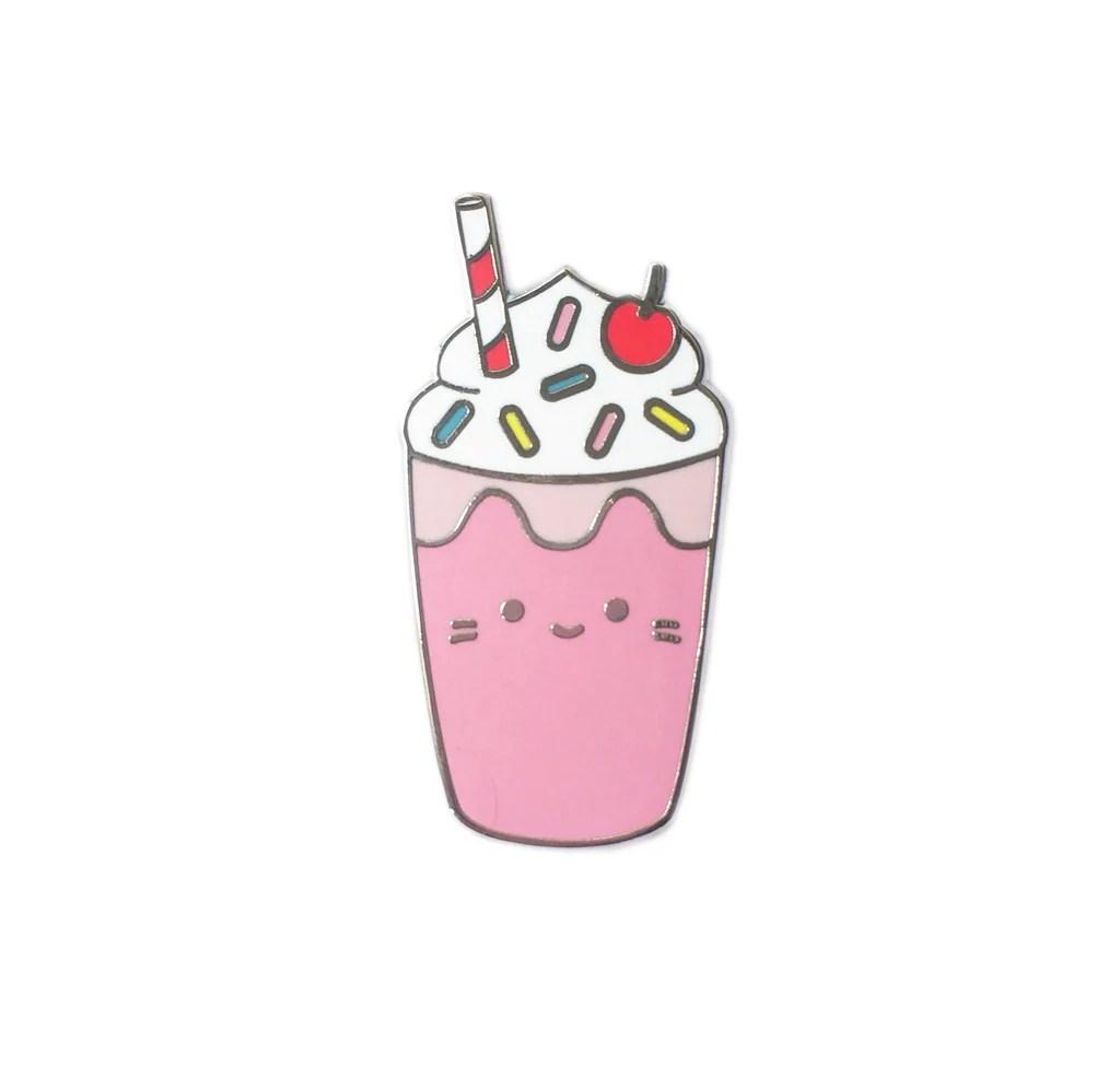 Super Cute Baby Cats Wallpaper Milkshake Cat Enamel Pin Sparkle Collective