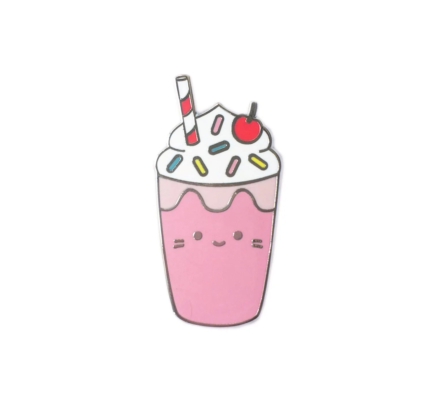 Starbucks Wallpaper Cute Milkshake Cat Enamel Pin Sparkle Collective