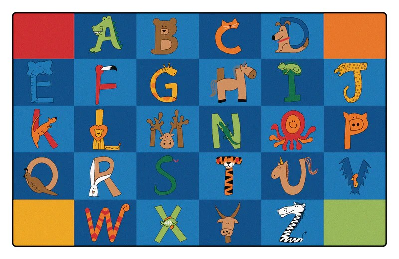 A To Z Animals Carpets 7396quot X 1239 Rectangle Kindermark Kids