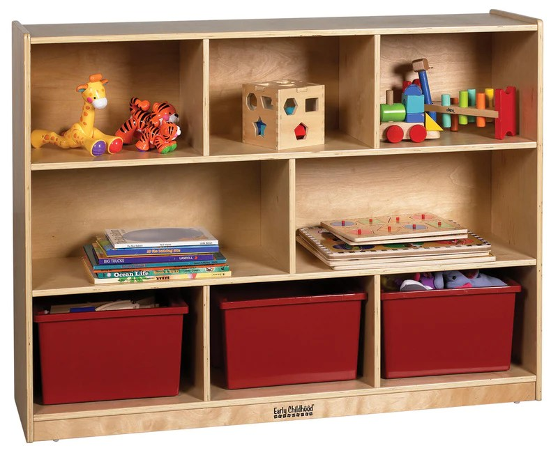 Storage Cabinet 48x13x36 8 Compartments Kindermark Kids
