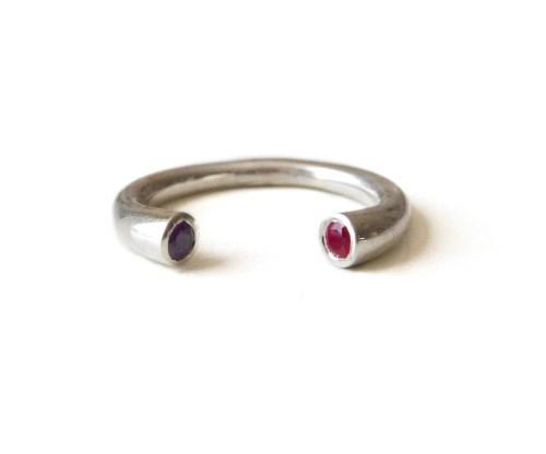 Medium Of Stackable Birthstone Rings