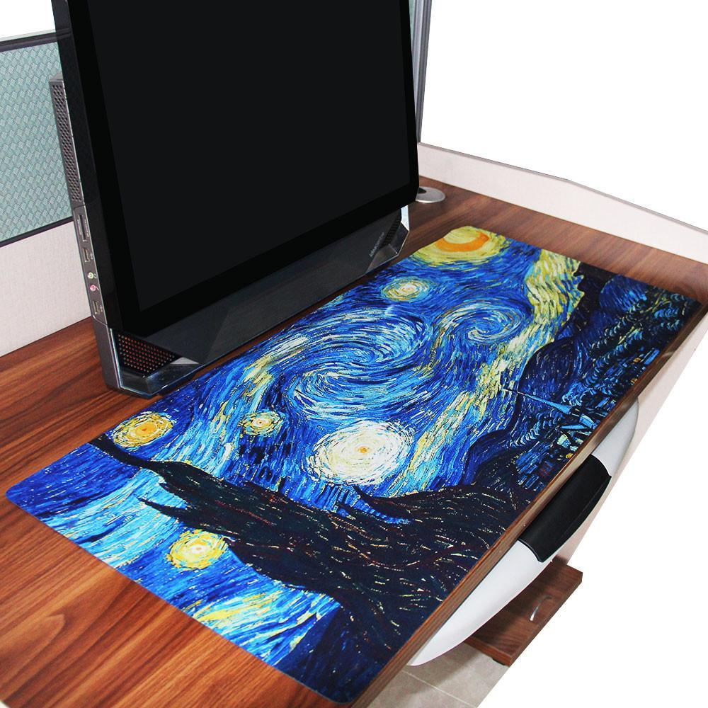 Noble Fanduco Mouse Pads Van Starry Night Giant Mouse Mat Van Starry Night Giant Mouse Mat Fanduco Cheap Giant Mouse Pad Giant Computer Mouse Pad custom Giant Mouse Pad