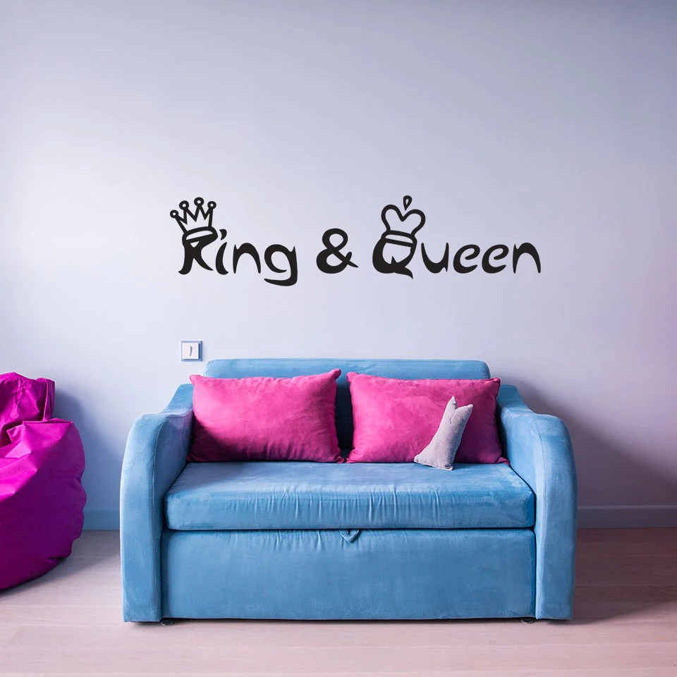 Quotes On Sofa King And Queen With Crowns Wall Decal Wall Decal Quote
