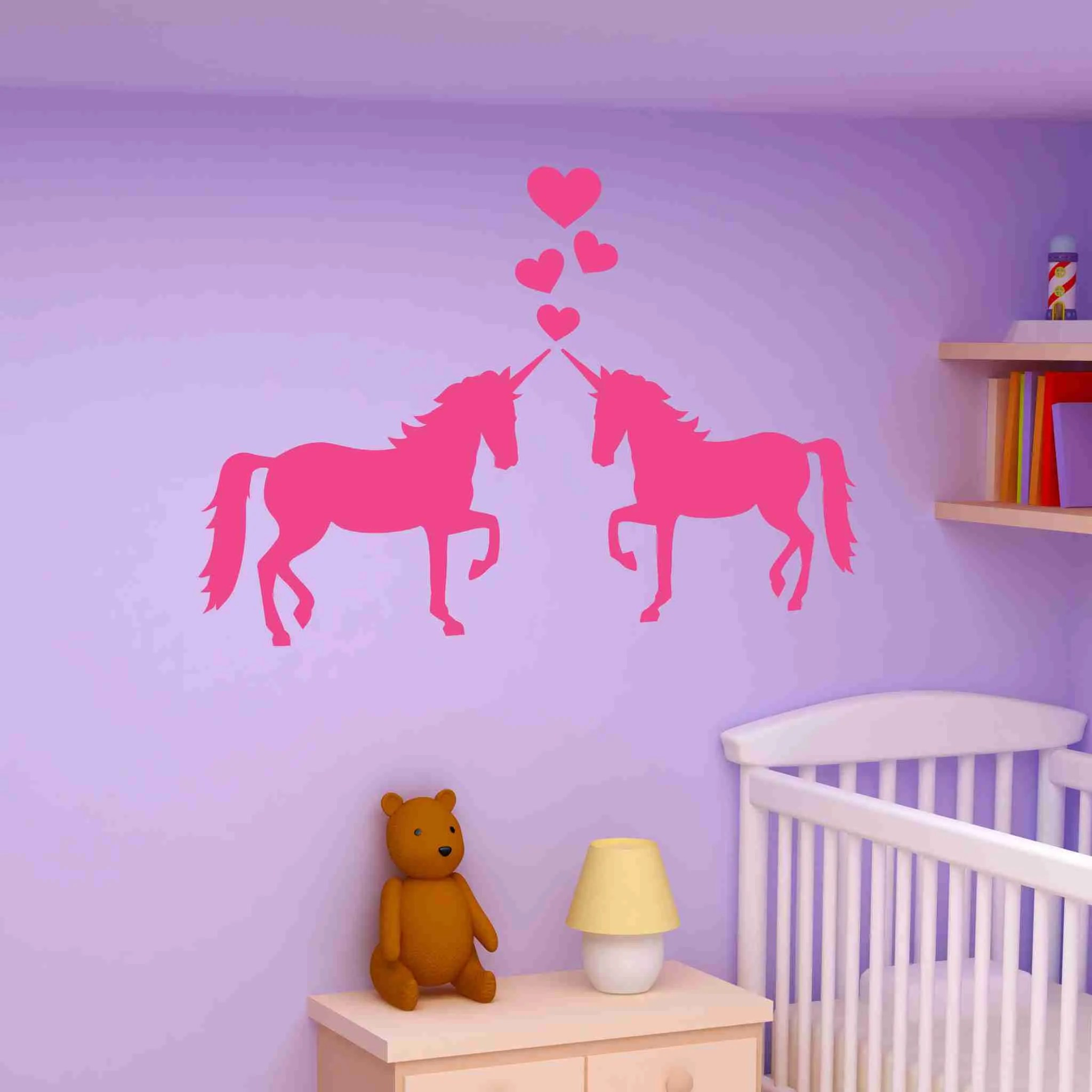 Lovely Love Wall Decal Room Vinyl Wall Nurserywall Decor Unicorns Love Wall Decal Room Vinyl Wall Art Nursery Wall Art Seahorse Nursery Wall Art Camels Unicorns art Nursery Wall Art