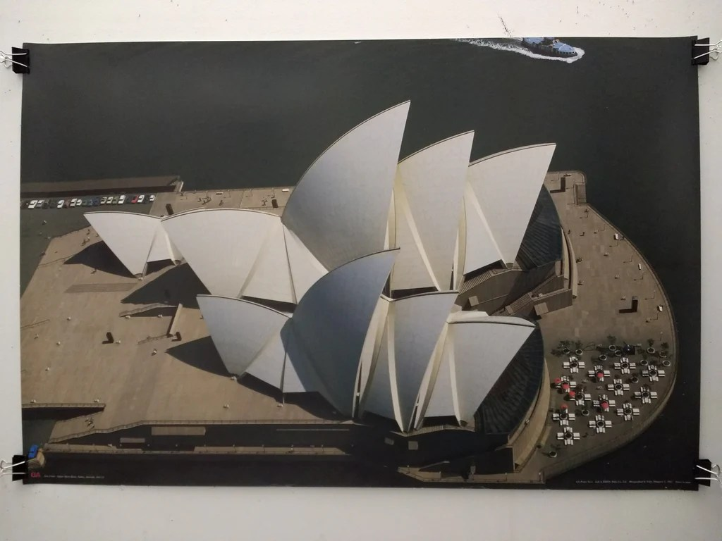 Jorn Utzon Sydney Opera House Poster William Stout Architectural Books