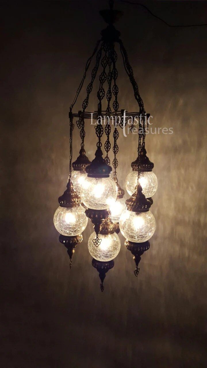 Glass Lamp Ceiling Handmade Blown Glass Chandelier Hanging Lamp