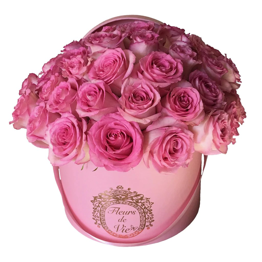 Image De Rose 50 Stem La Vie En Rose Box