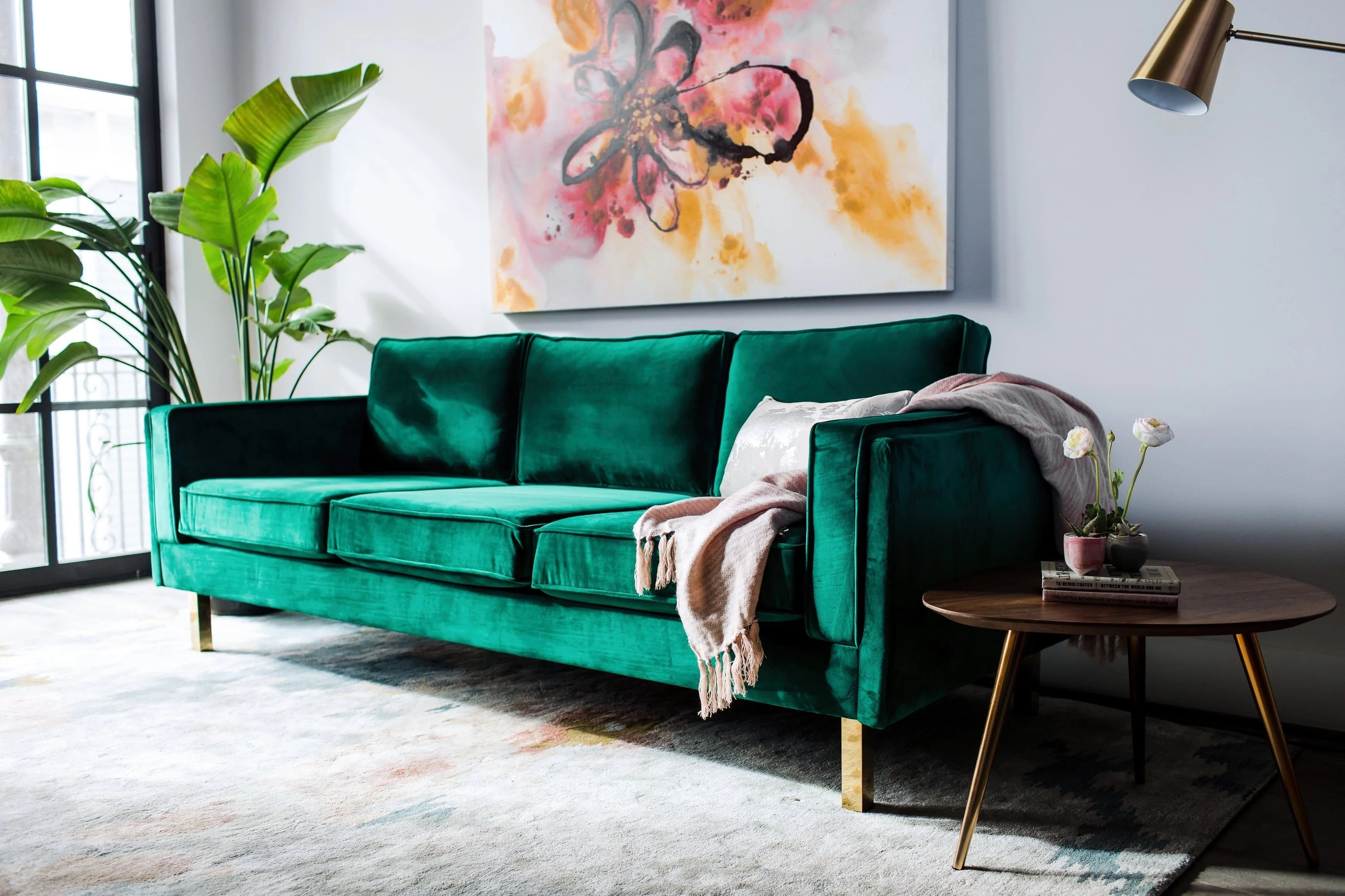 Couch Couch Lexington Velvet Sofa Green