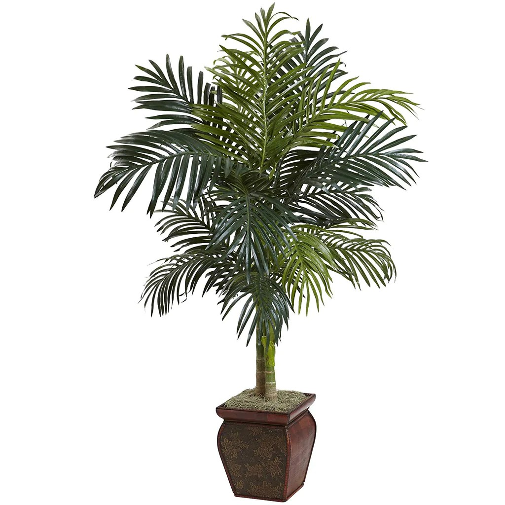 Artificial Chrysalidocarpus Lutescens 4 5ft Artificial Areca Palm Tree Tall Indoor Dypsis Lutescens
