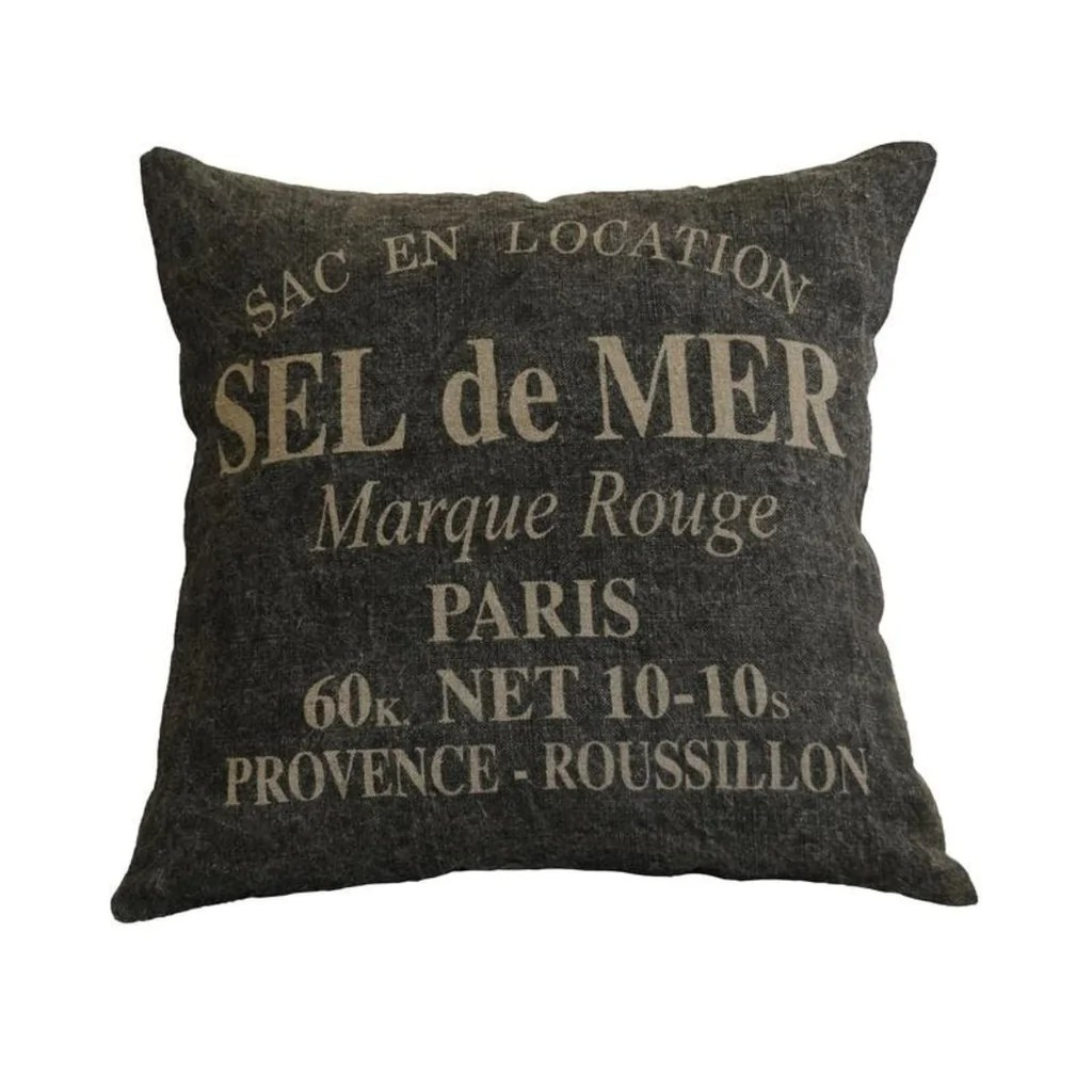 Quotes On Sofa 20 X 20 Brown Grey Paris Theme Throw Pillow Quotes