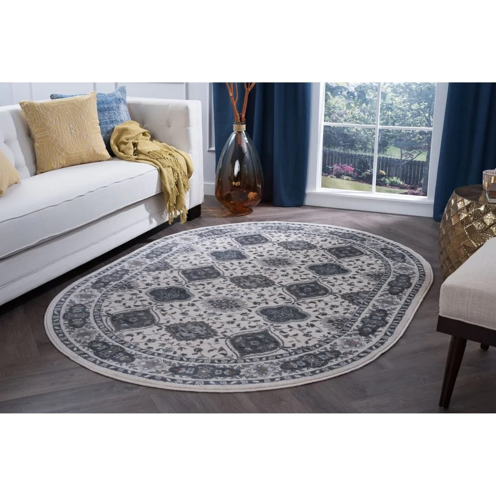 Patterned Carpet Chn Oriental Theme Oval Rug Floral Pattern Trellis Lattice Patterned