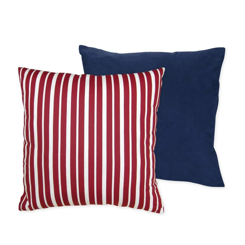 Nautical Sofa Throws Red White Patriotic Stripes Theme Decorative Plush Throw Pillow 16inch
