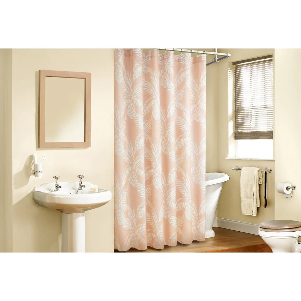 82 Shower Curtain Orange White Graphical Nature Themed Shower Curtain Polyester Lightweight Detailed