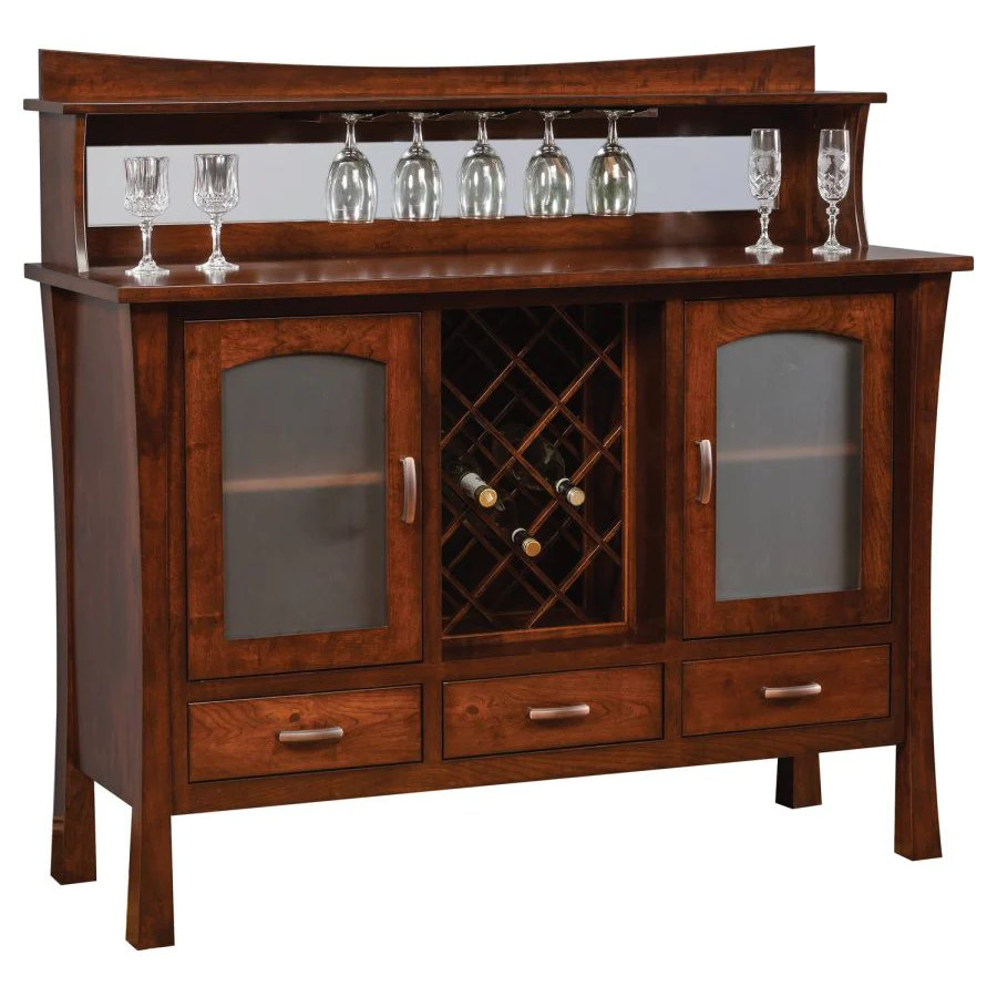 Buffet Sideboard With Wine Rack Woodbury Buffet W Wine Rack Charlestonamishfurniture