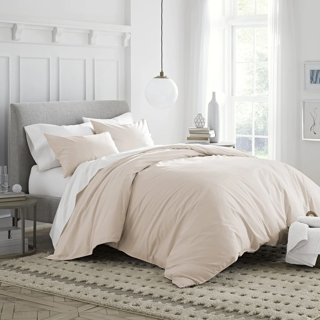 Where To Buy Nice Duvet Covers 300 Thread Count Organic Cotton Percale Duvet Cover Set