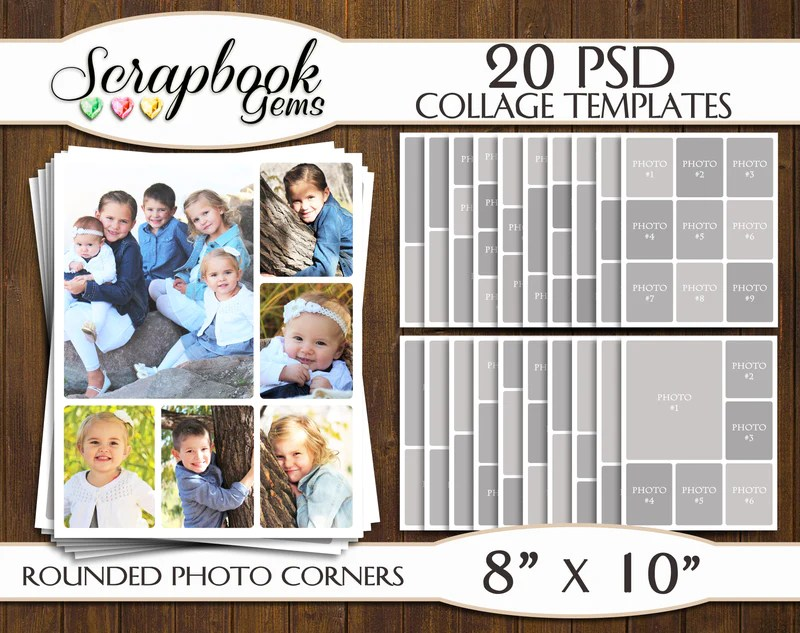 psd collage - Jolivibramusic - facebook collage template