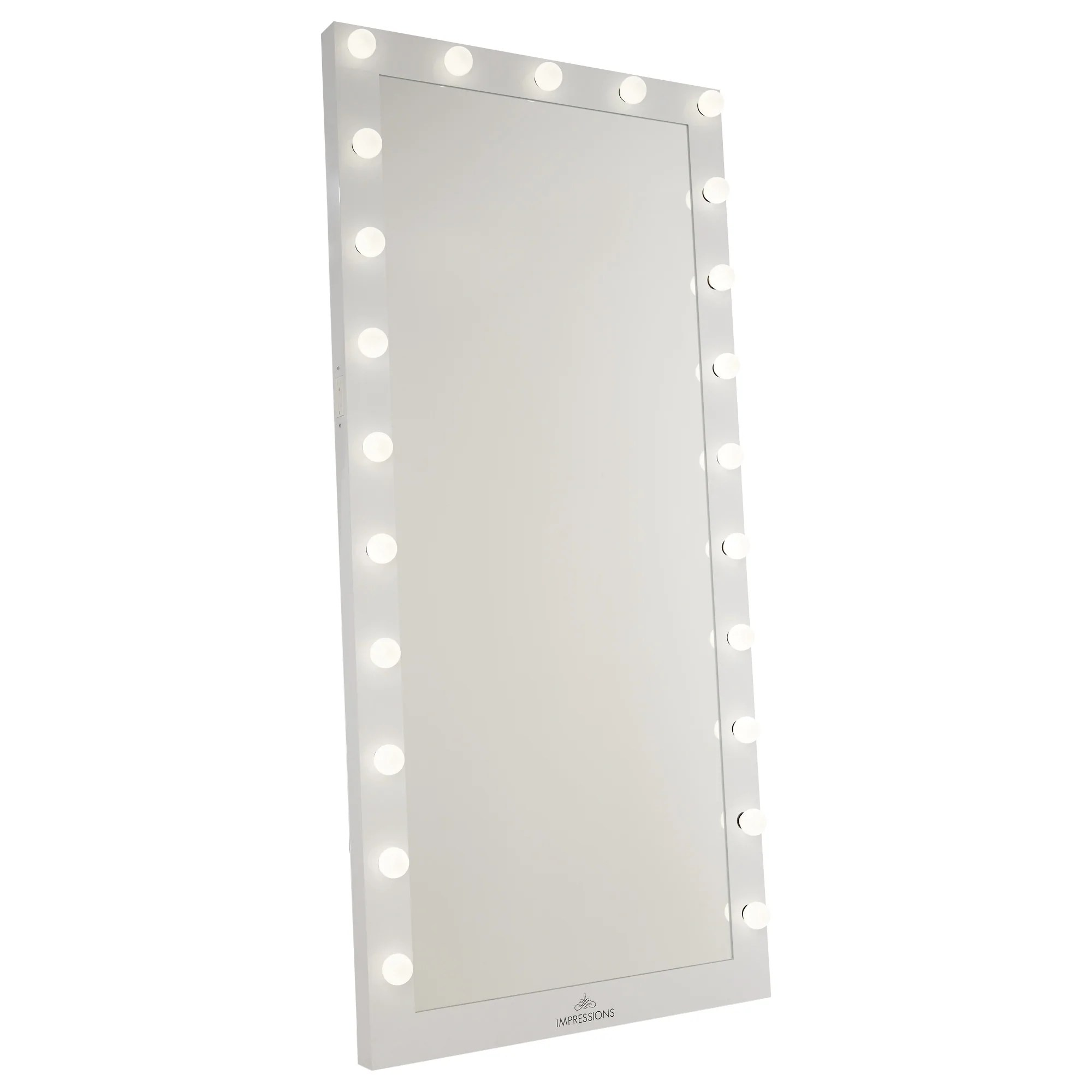 White Floor Mirror Hollywood Iconic Full Length Vanity Floor Mirror