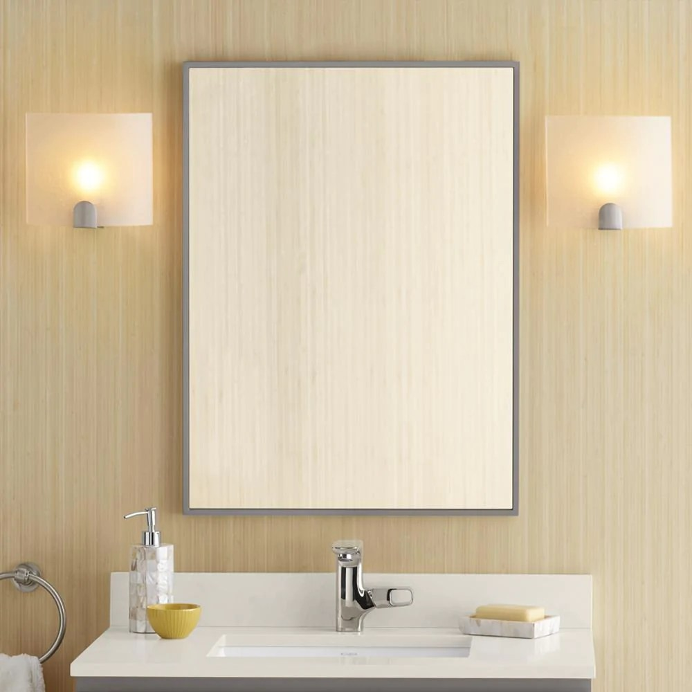 "Wood Framed Bathroom Vanity Mirrors 23"" Taylor Contemporary Solid Wood Framed Bathroom Mirror"