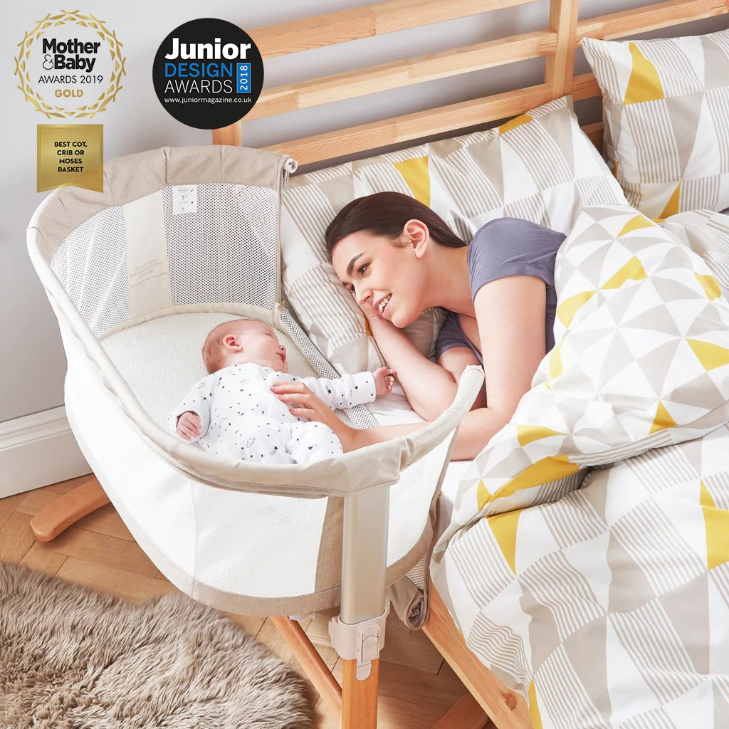 What Can Baby Sleep In Next To Bed Purair Keep Me Close Breathable Bedside Crib Natural