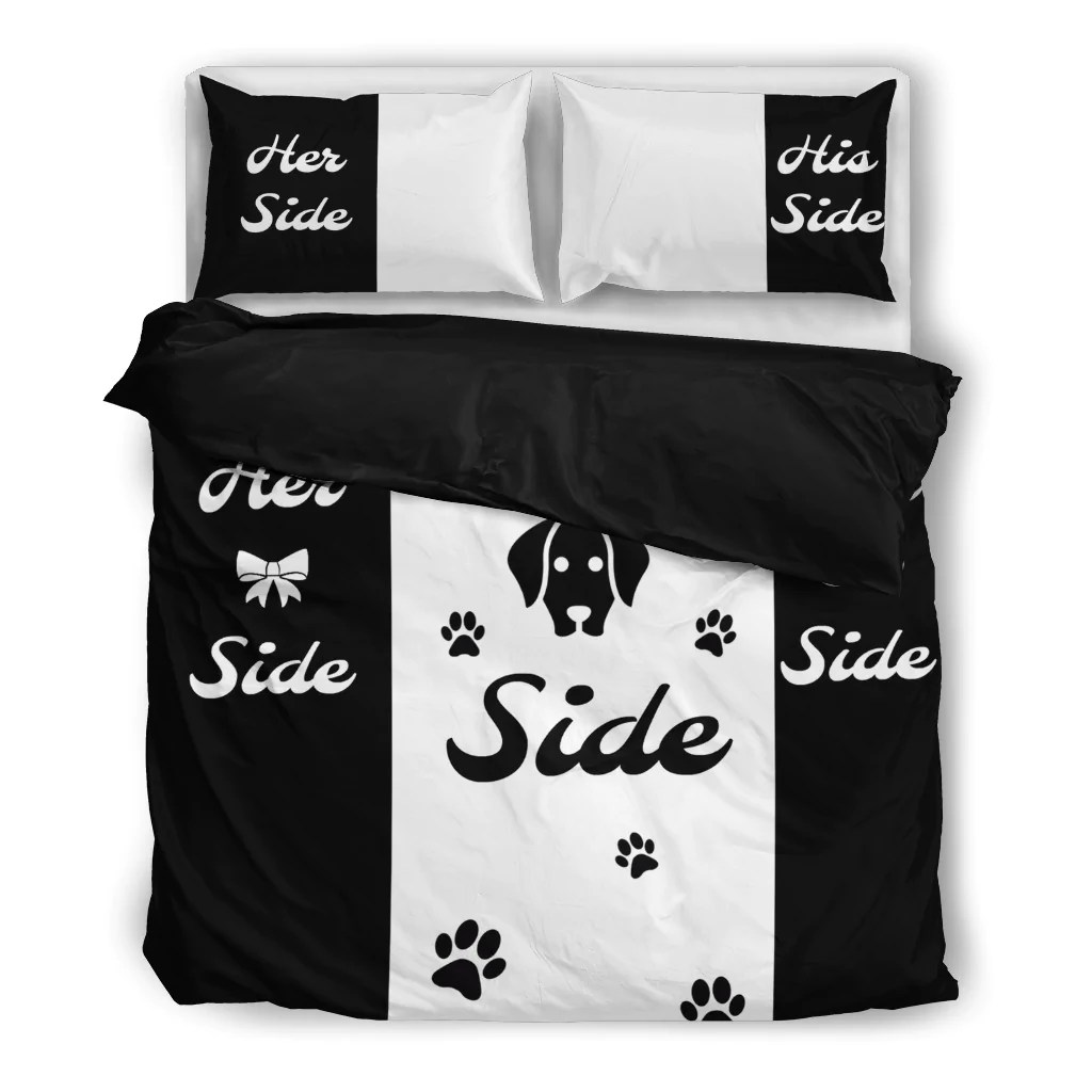 Bettwäsche Dog Side My Side Her Side His Side Dog Side Bedding Set Mofotee Inc
