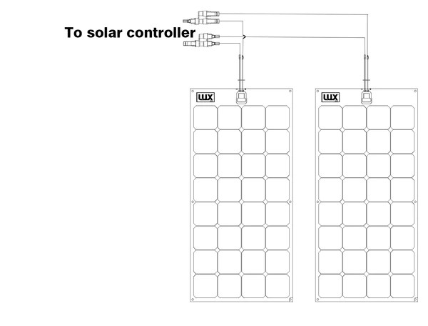wiring two solar panels in series