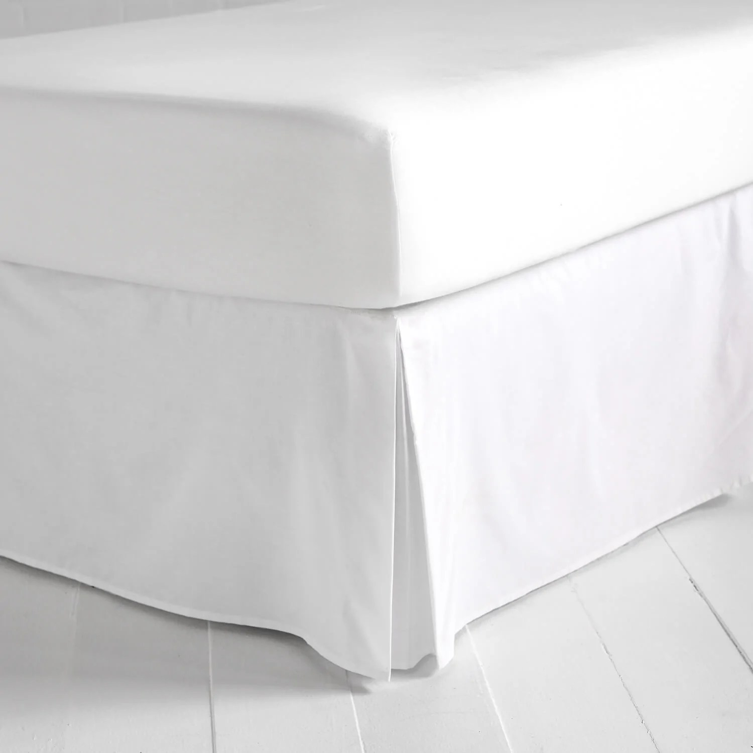 Simple Bed Simple White Bed Skirt Dormify