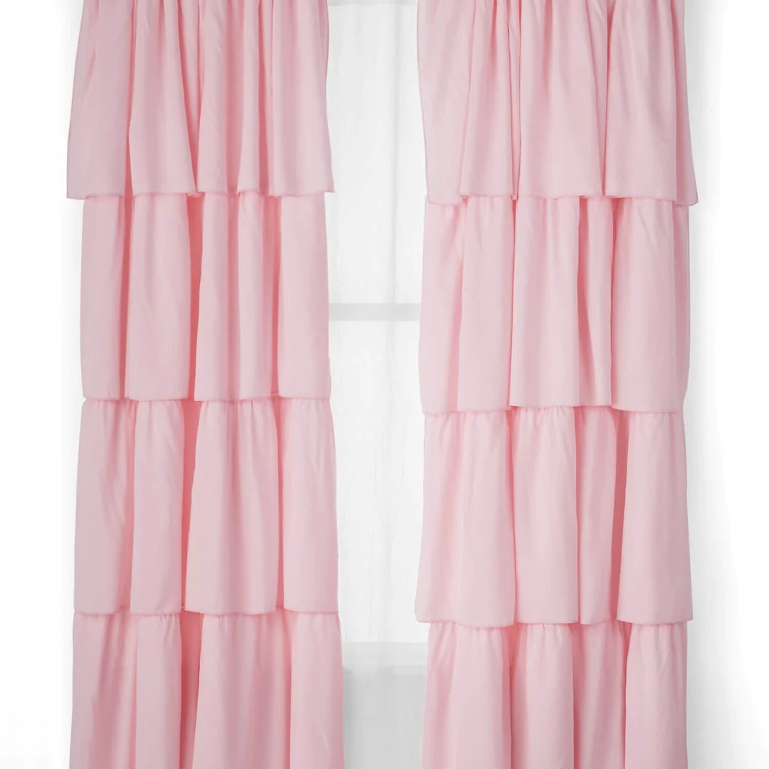 How To Make Curtain Lights Flounce Single Curtain Light Pink