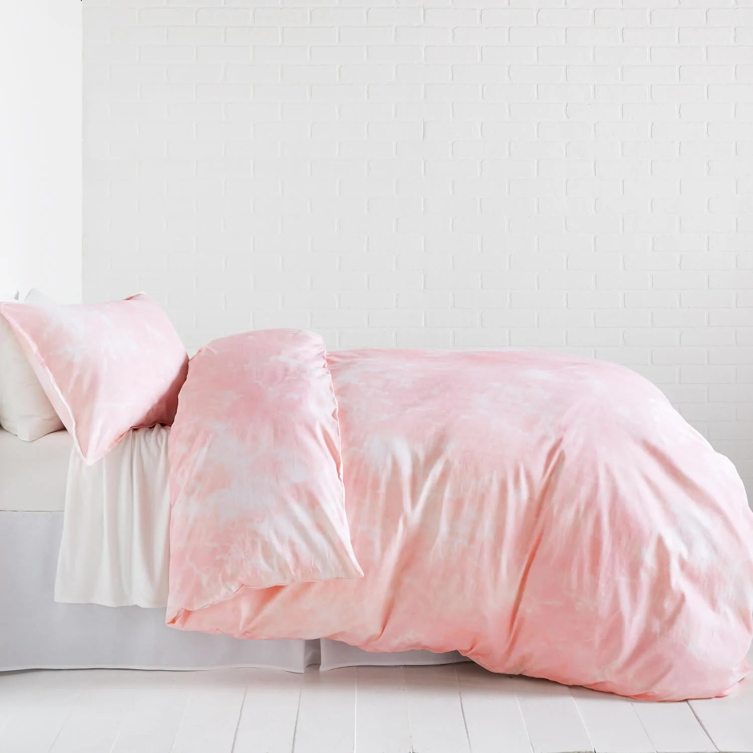 Pretty Bed Covers Pink Marble Duvet Cover And Sham Set Dormify