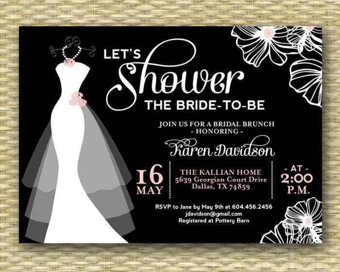 Bridal Shower Invitation Wedding Dress Shower Invite Dress