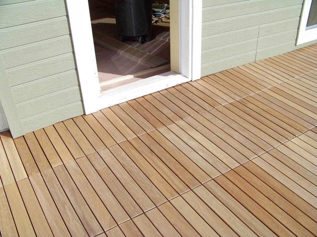 Interlocking Deck Tiles Eco Decking Tiles Premium Interlocking Garapa Blonde Wood Deck Tiles