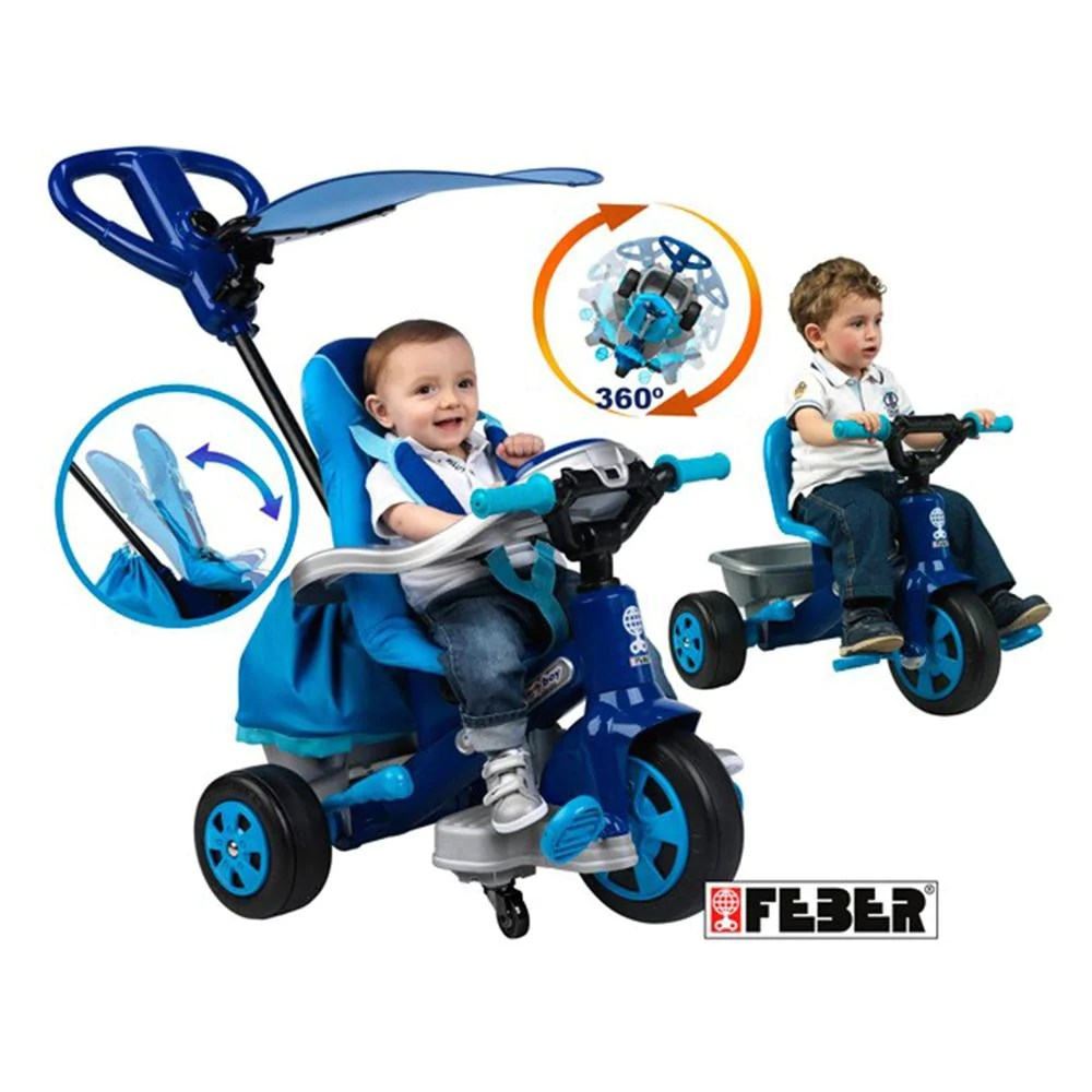 Feber Blue Baby 360 Twist Trike With Handle Kids Car Sales - Baby Twist Wickeltisch