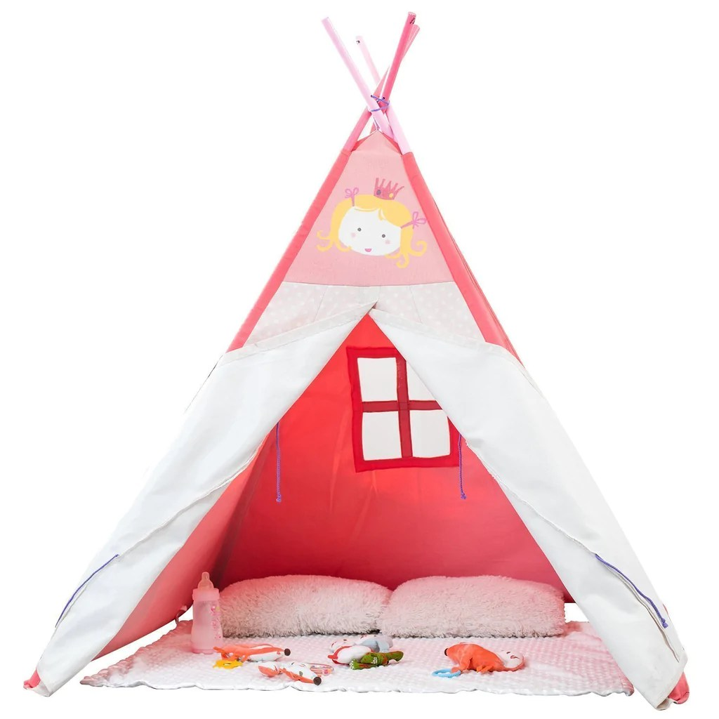 Teepee Kids Play Teepee Kid Baby Tent Pink For Kids 2 5 Years Child Teepee For Baby Girl Princess Pink