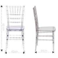 Tiffany Chair Clear  Ahmeds Textiles
