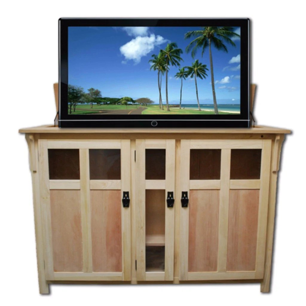 Touchstone 70162 Bungalow Unfinished Tv Lift Cabinet For Tvs Up To 60