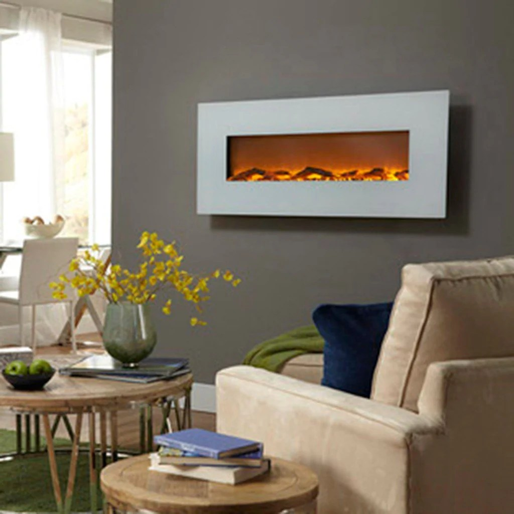 Wall Mount Fireplaces Ivory 80002 50