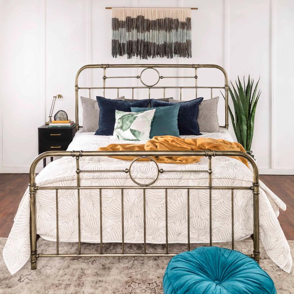 Boho Bedroom Minimalist Boho Bedroom Featuring Our Antiqua Queen Bed Walker
