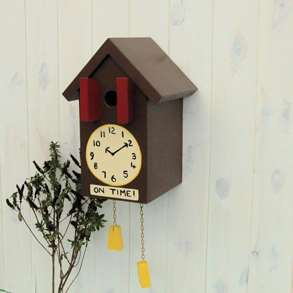 Birdhouse Clock Personalised Cuckoo Clock Bird Box Father 39s Day Garden