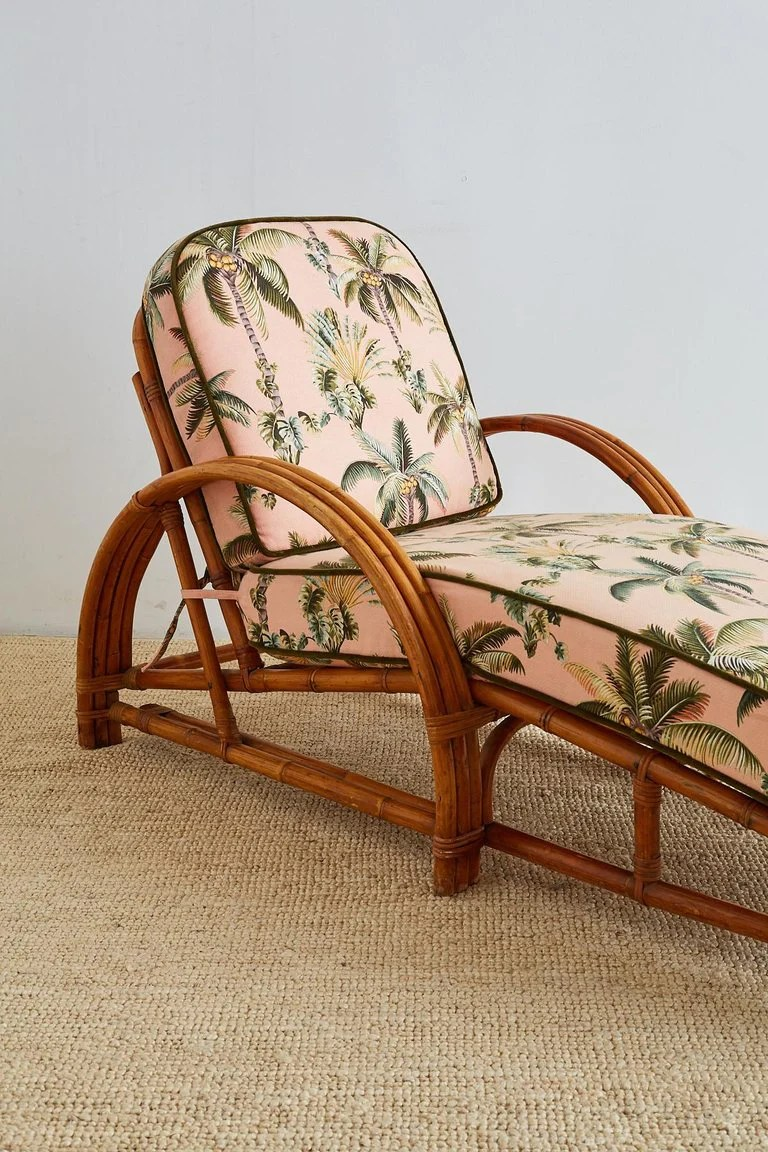 Chaise Style Paul Frankl Style Three Strand Rattan Chaise Lounge Erin Lane Estate